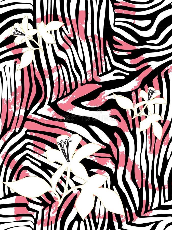 Modelo del estampado de zebra fotos de archivo libres de regalías