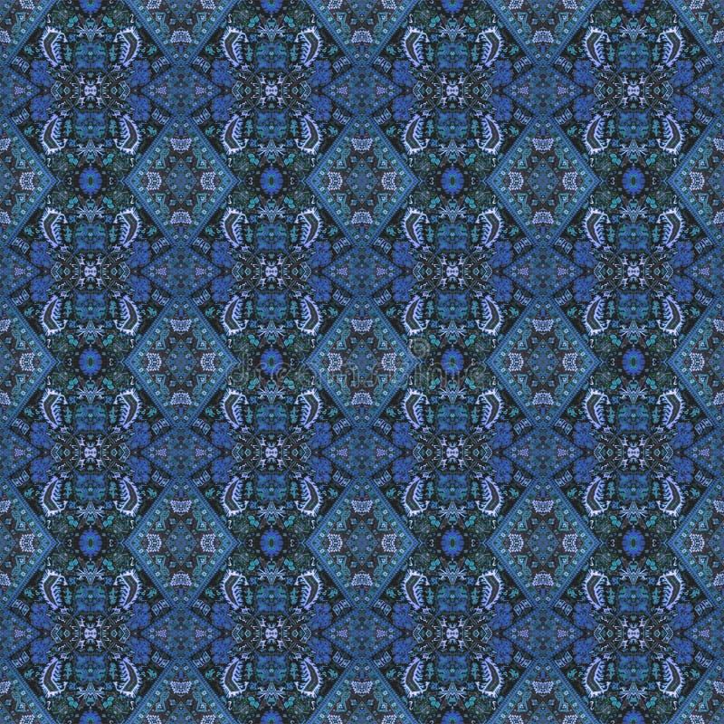 Modelo del este inconsútil hermoso de la decoración de la alfombra, ornamento abstracto de alrededor y cuadrado o elementos del R libre illustration