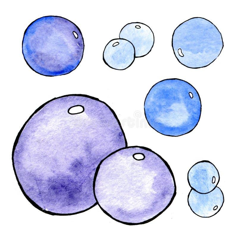 Modelo del extracto de la acuarela con las burbujas Pintura de la mano watercolor Modelo incons?til para la tela, papel y otro imágenes de archivo libres de regalías