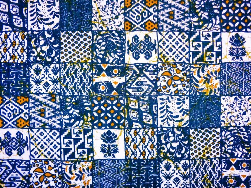 Modelo del extracto de la tela del batik foto de archivo