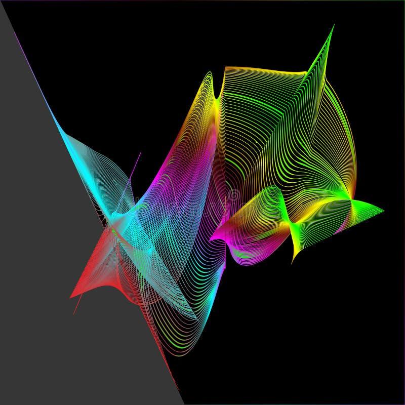 Modelo del extracto del ` s del Spirograph del arco iris stock de ilustración