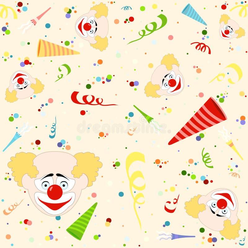 Modelo del feliz cumpleaños stock de ilustración