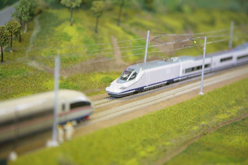 Modelo Del Ferrocarril Foto de archivo