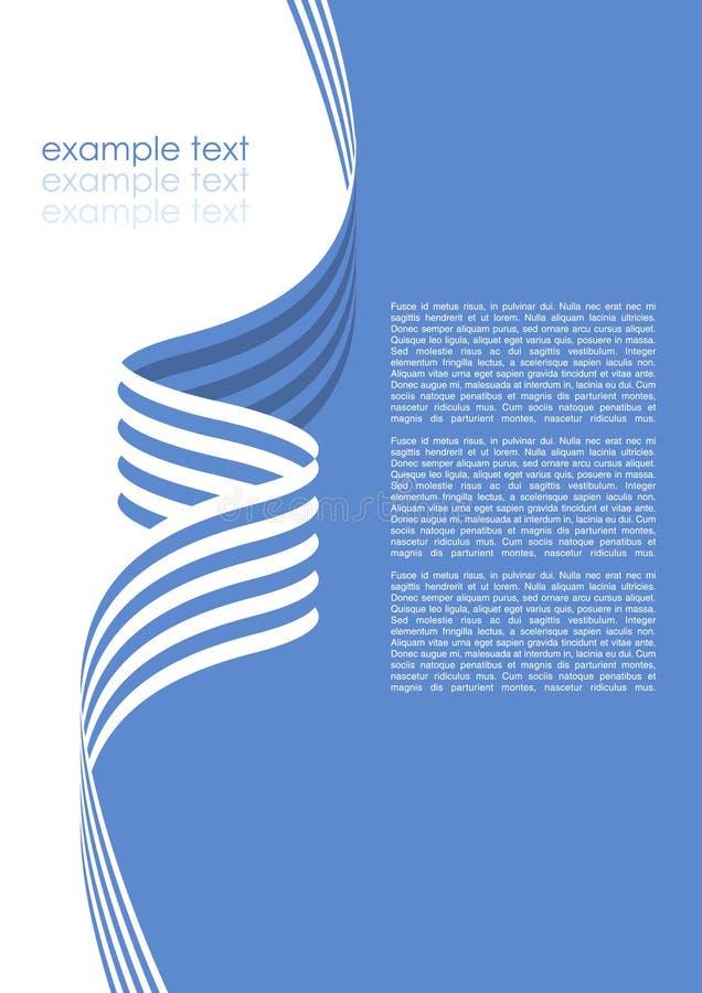 Modelo del folleto del vector ilustración del vector