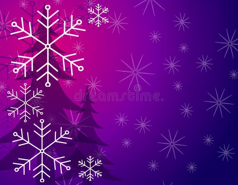 Modelo del fondo del árbol de la nieve stock de ilustración