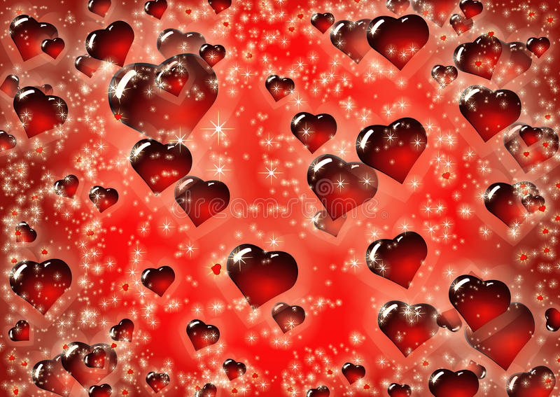 Modelo del fondo del día del ` s de StValentine de los corazones fotografía de archivo
