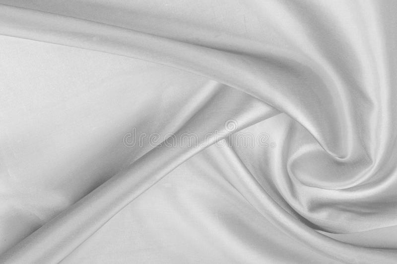 Modelo del fondo, textura La tela de seda es gris Abst negro foto de archivo libre de regalías