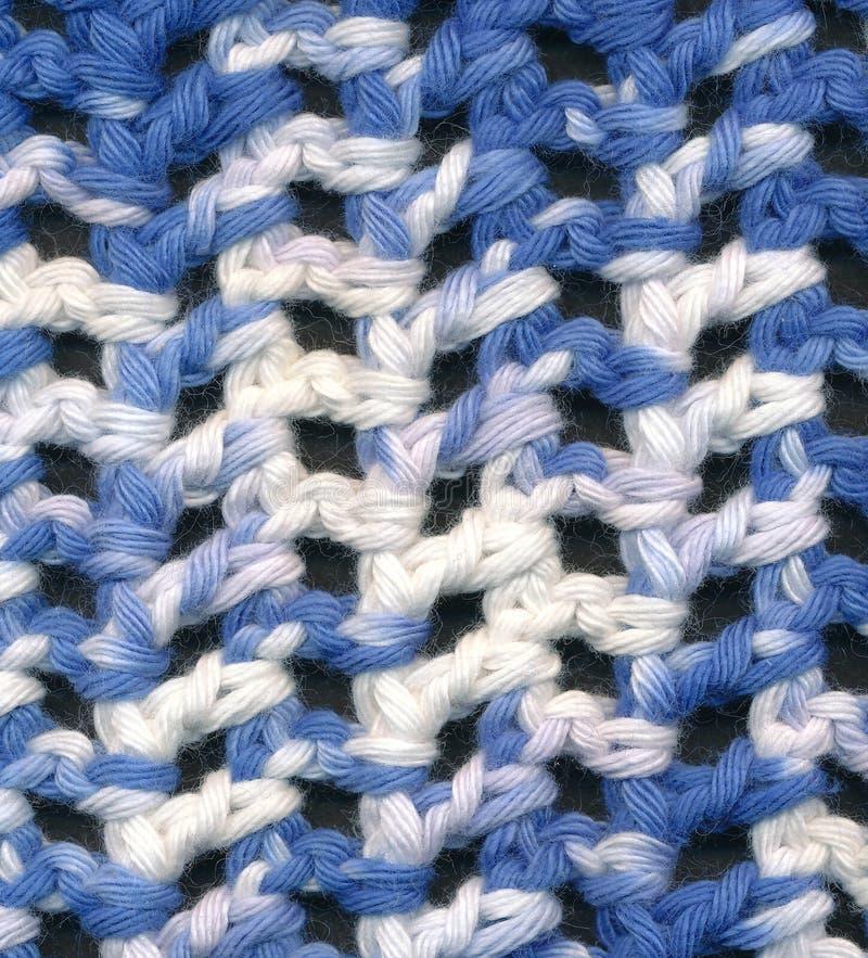 Modelo del ganchillo del azul y del blanco fotografía de archivo libre de regalías