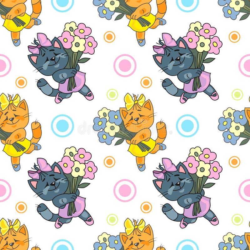 Modelo del gatito stock de ilustración