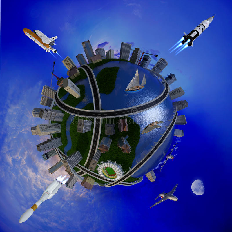 Modelo del globo libre illustration