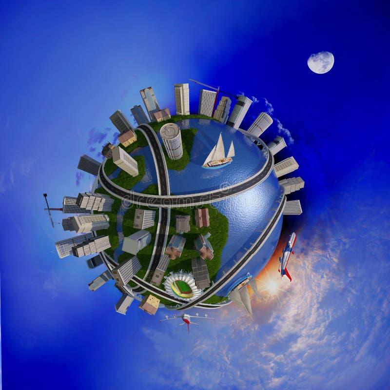 Modelo del globo stock de ilustración