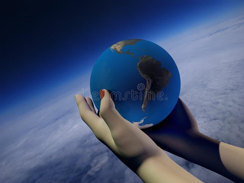 Modelo del globo ilustración del vector