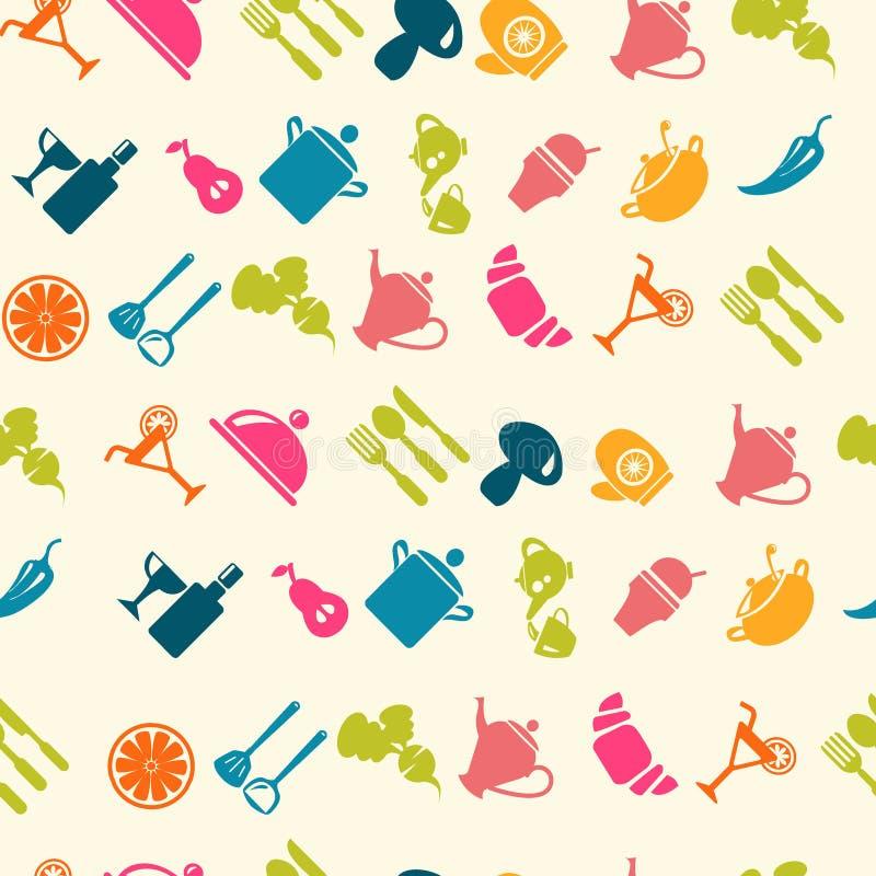 Modelo del icono de la comida - ejemplo libre illustration