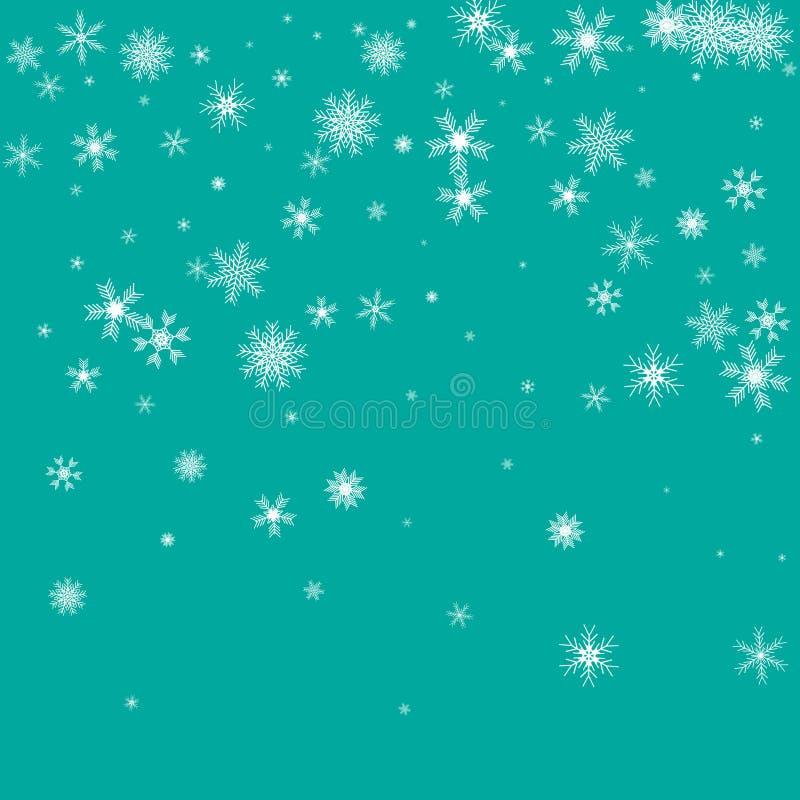Modelo del invierno con los copos de nieve crystallic La Navidad libre illustration
