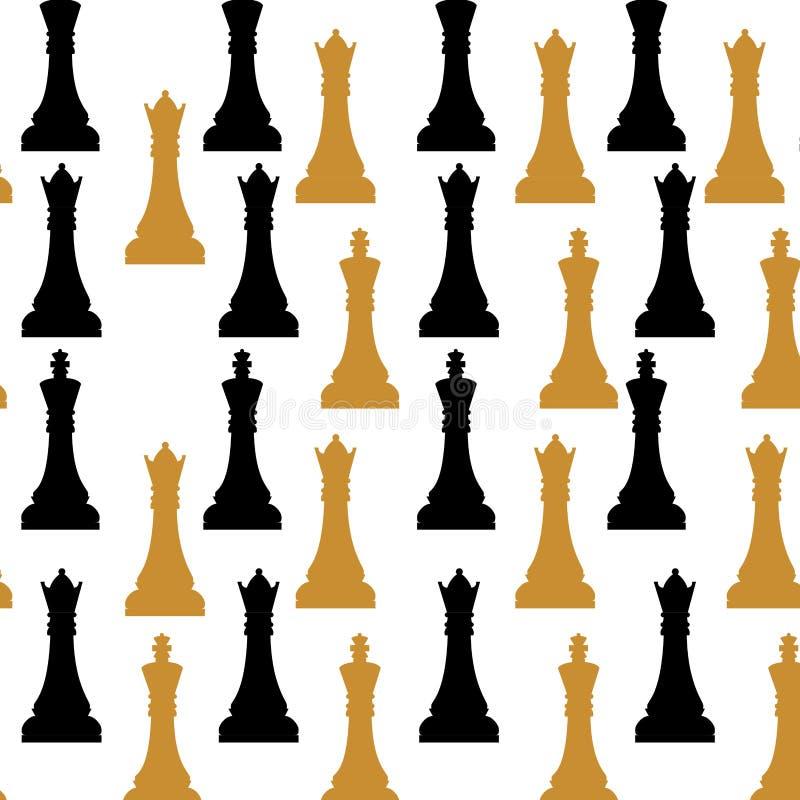 Modelo del juego de ajedrez stock de ilustración