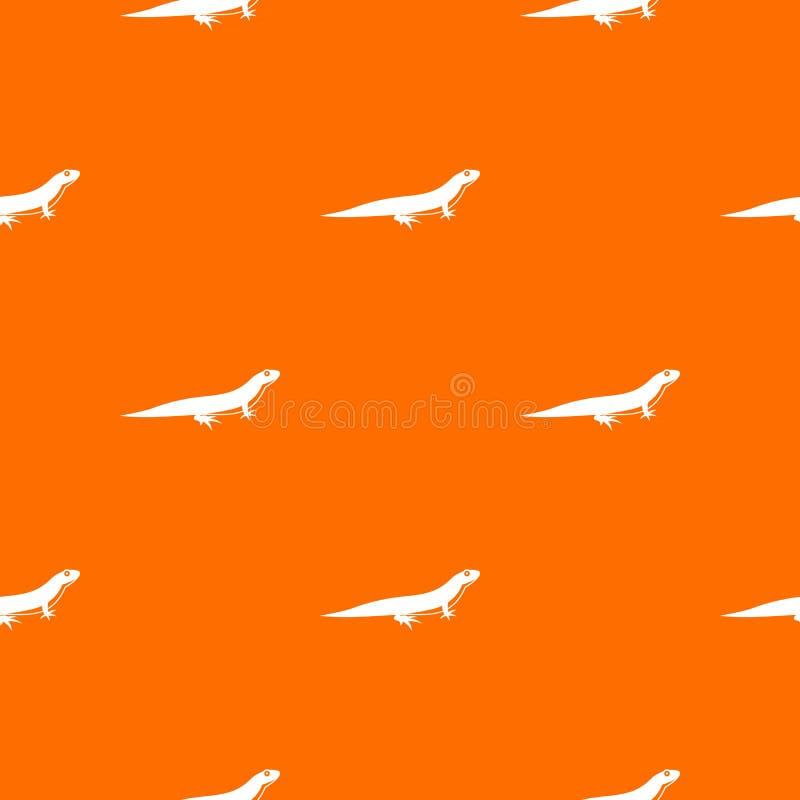 Modelo del lagarto inconsútil stock de ilustración
