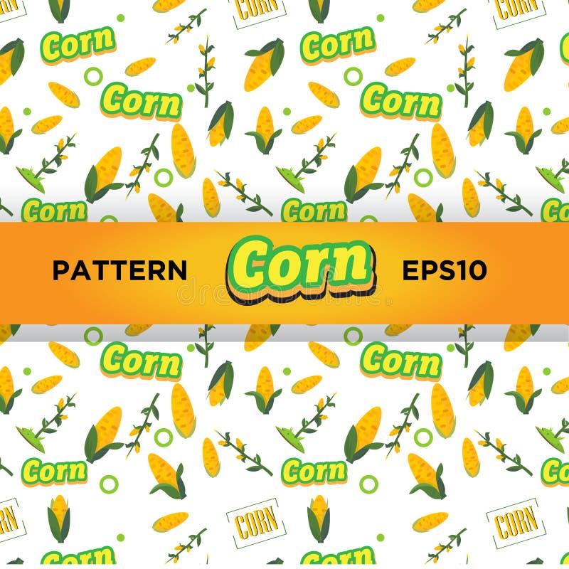 Modelo del maíz - stock de ilustración