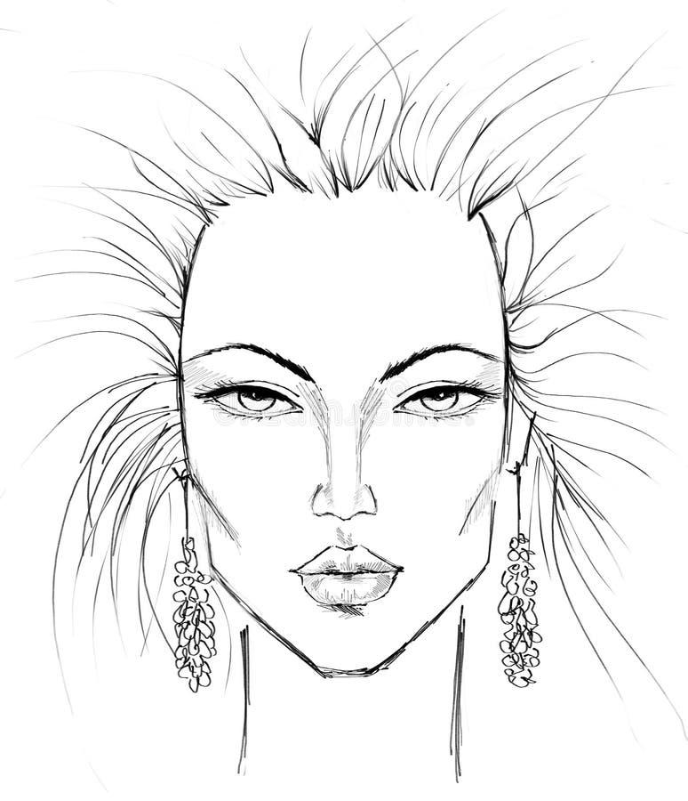 Modelo del maquillaje ilustración del vector