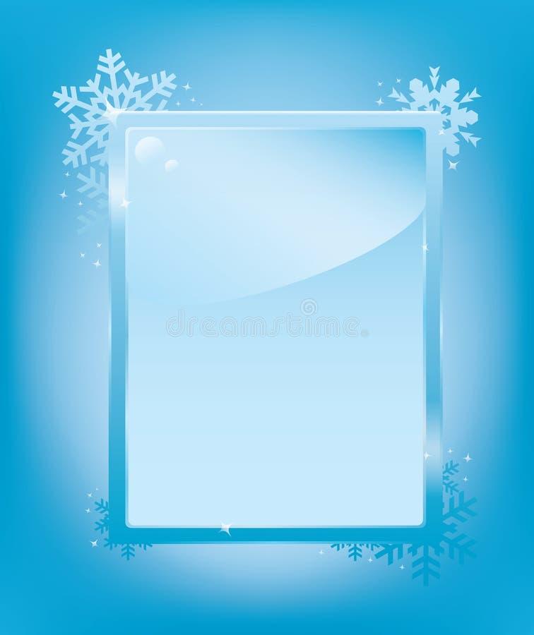 Modelo del marco de helada ilustración del vector. Ilustración de ...