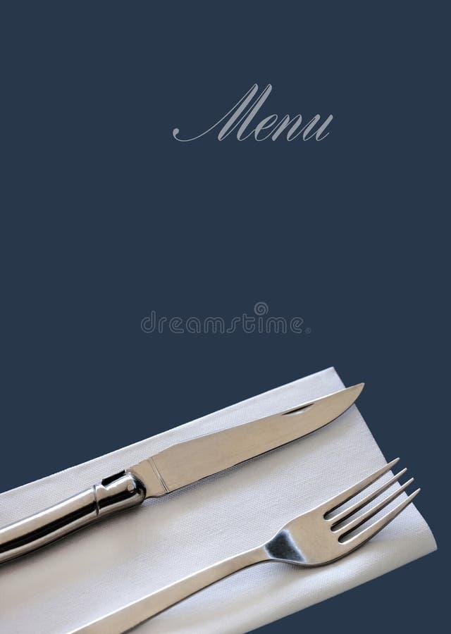 Modelo del menú del restaurante foto de archivo