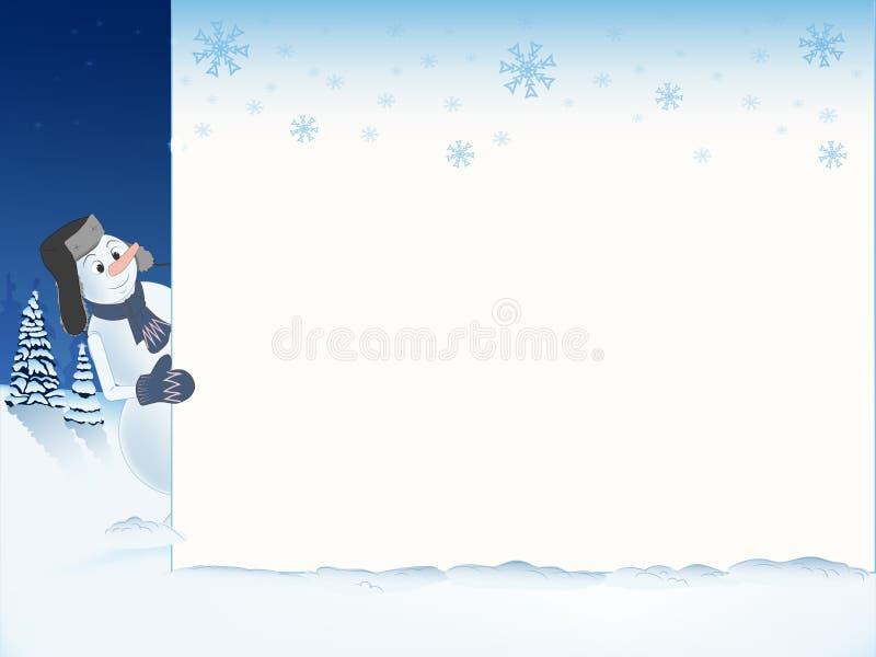 Modelo 11 del muñeco de nieve libre illustration