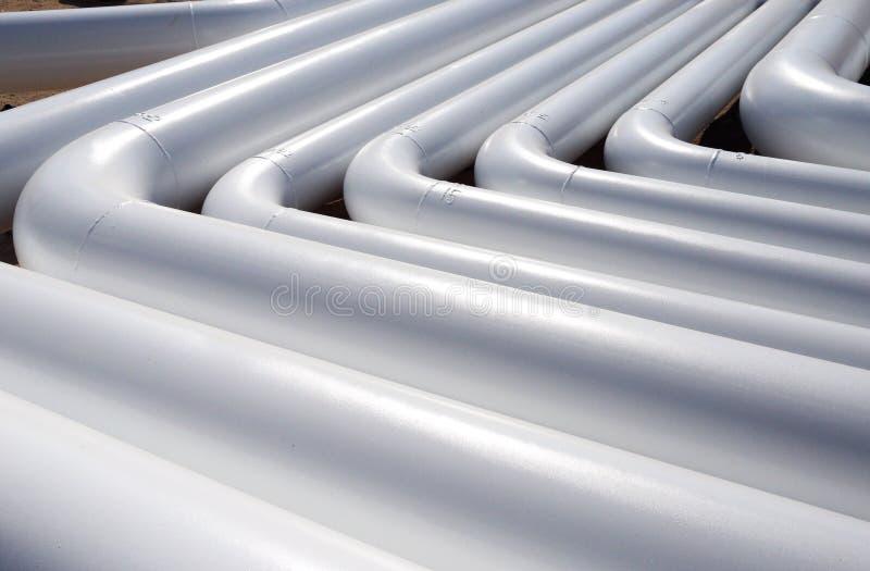 Modelo del nuevos tubos blancos fotos de archivo