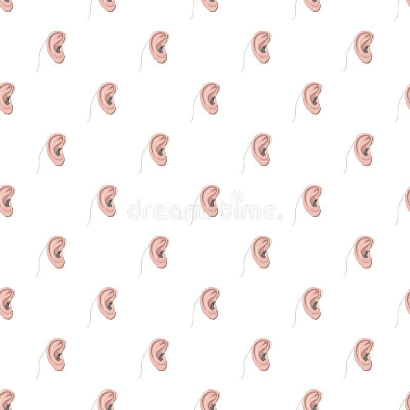 Modelo del oído de la audiencia stock de ilustración