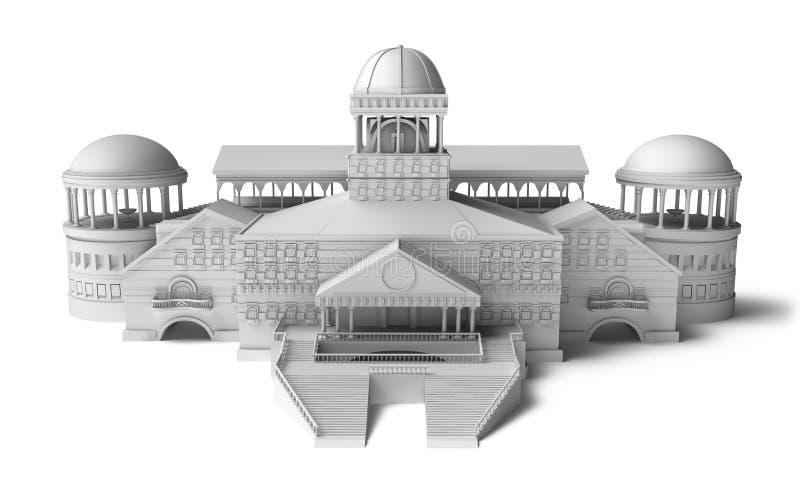 Modelo del palacio ilustración del vector