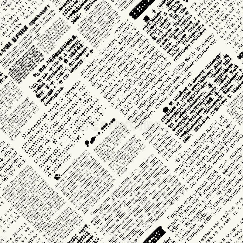 Modelo del periódico stock de ilustración