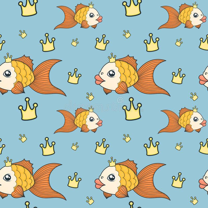 Modelo del pez de colores stock de ilustración