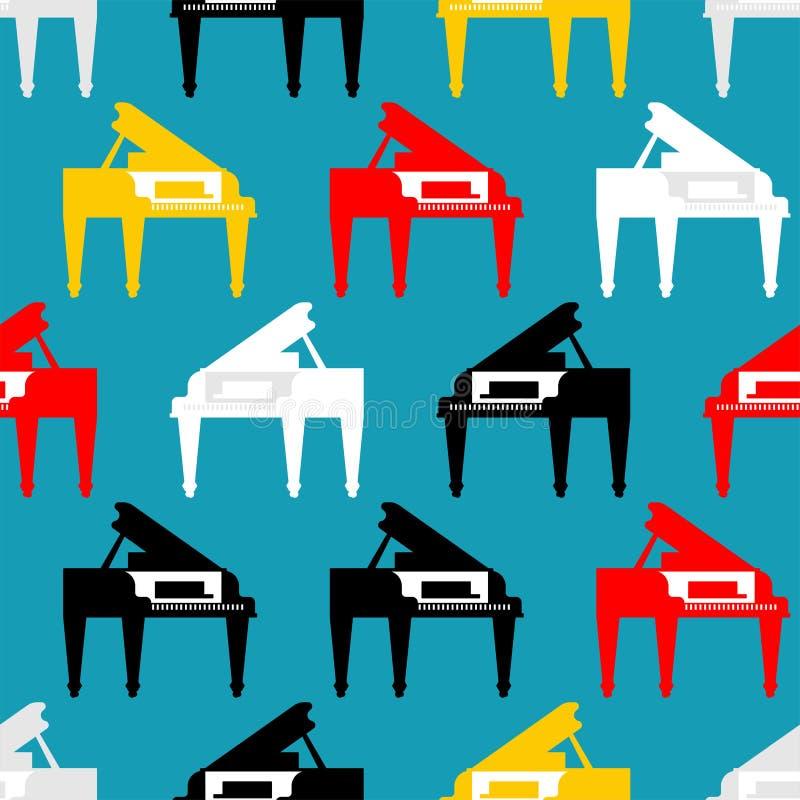 Modelo del piano de cola inconsútil Illustra musical del vector del fondo libre illustration