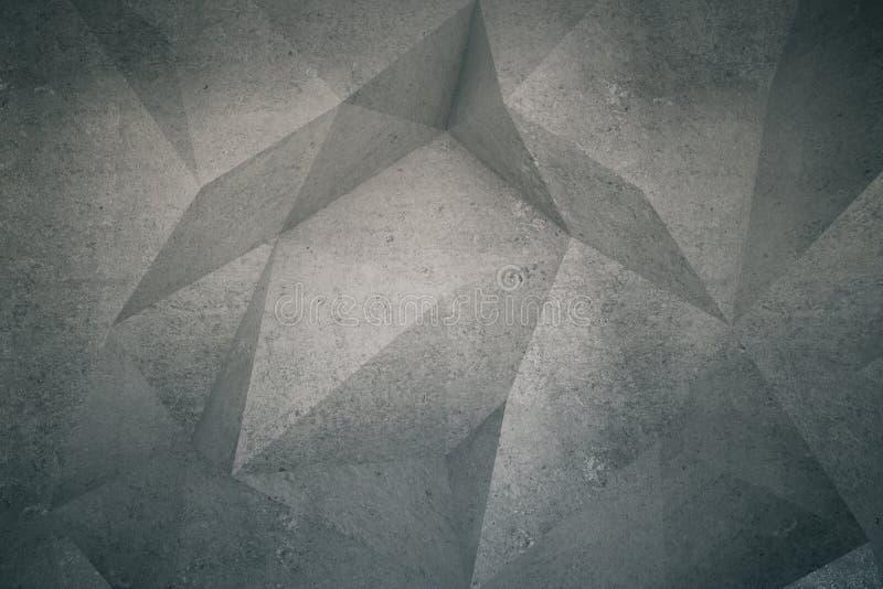 Modelo del polígono en la pared ilustración del vector