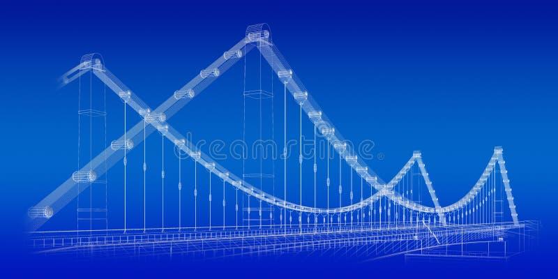 Modelo del puente stock de ilustración