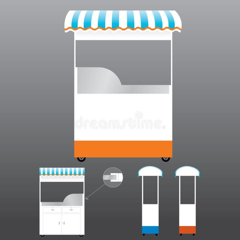 Modelo del quiosco del alimento libre illustration