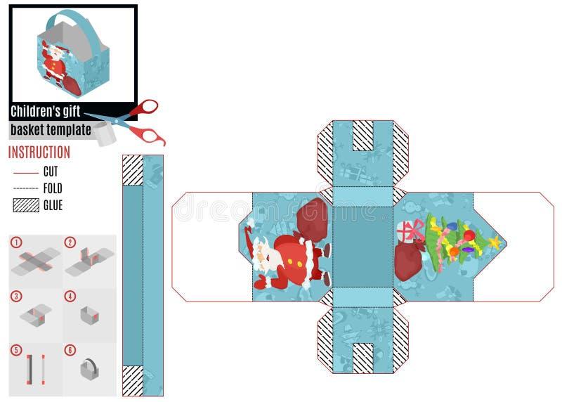 Modelo del rectángulo con el trineo plano del estilo de santa Vector común de la imagen libre illustration