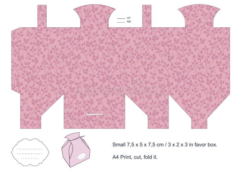 Modelo del rectángulo de regalo ilustración del vector