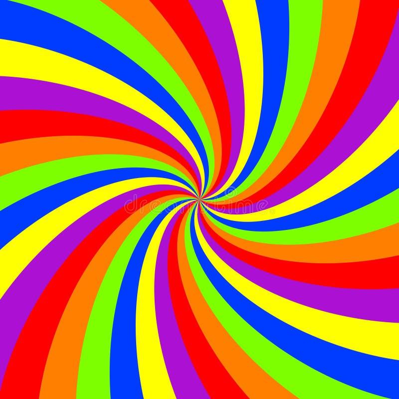 Modelo del remolino del arco iris ilustración del vector