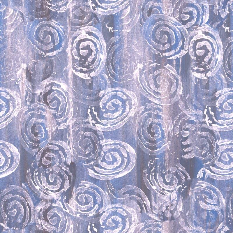 Modelo del remolino del zen - círculos blancos en fondo gris y azul imagen de archivo
