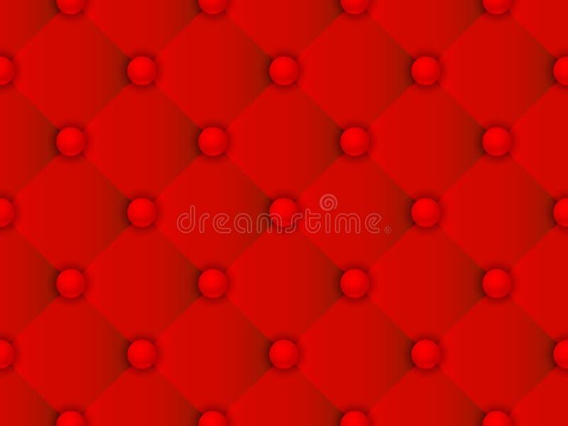 Modelo del rojo de la tapicería stock de ilustración