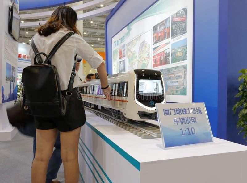 Modelo del subterráneo de la ciudad de Xiamen, China imagen de archivo libre de regalías