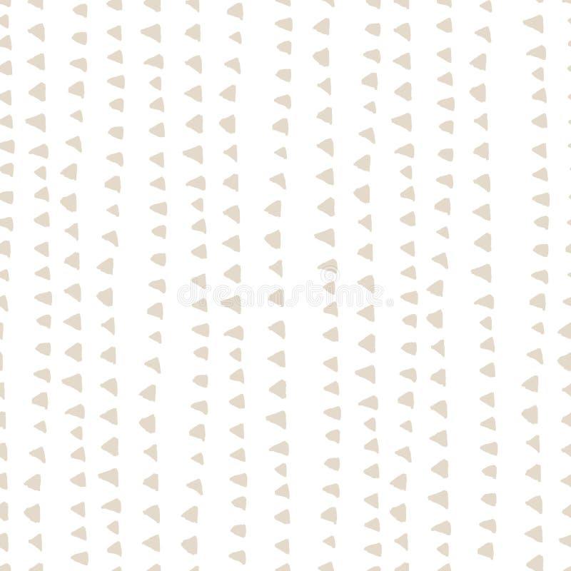 Modelo del teñido anudado de WatercolorTriangle Fondo del añil de Shibori Modelo de la palmera de GE Modelo inconsútil exótico co ilustración del vector