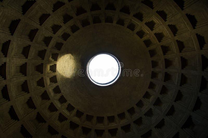 Modelo del top de la arquitectura de la señal del techo del panteón de Roma Italia imagen de archivo libre de regalías