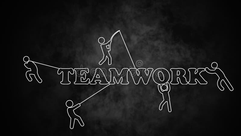 Modelo del trabajo del equipo libre illustration