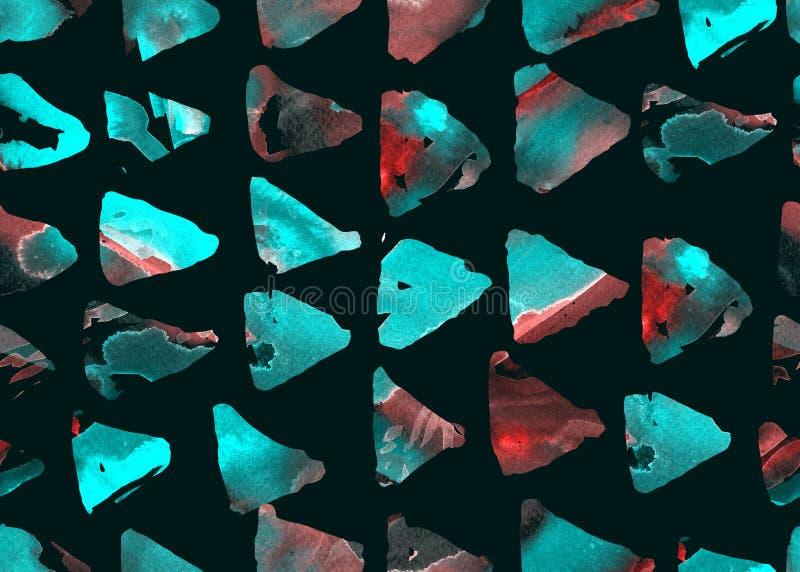 Modelo del triángulo de la acuarela Modelo inconsútil geométrico simple fotos de archivo