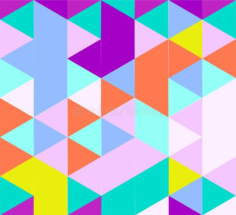 Modelo del triángulo en sombras del color claro stock de ilustración