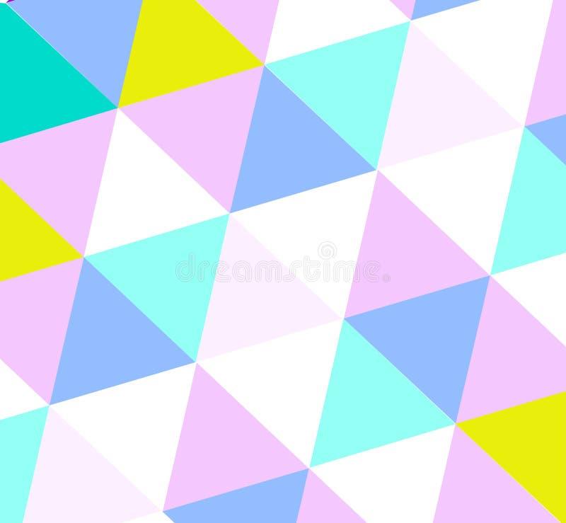 Modelo del triángulo en sombras del color claro libre illustration