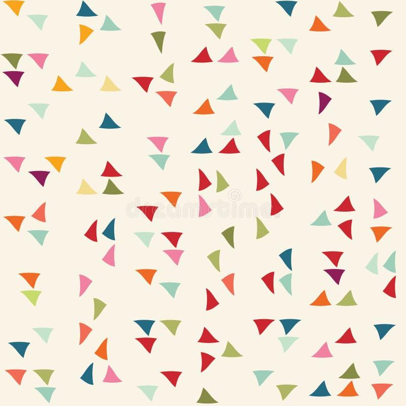 Modelo del triángulo Fondo del vector foto de archivo