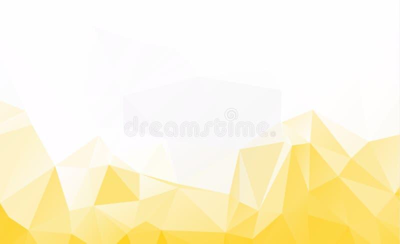 Modelo del vector del amarillo de Ight plantilla triangular Sampl geométrico stock de ilustración