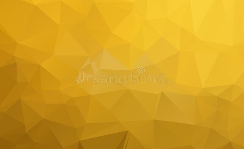 Modelo del vector del amarillo de Ight plantilla triangular Sampl geométrico ilustración del vector