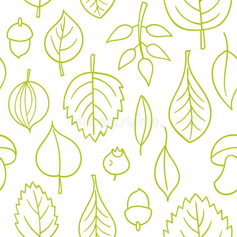 Modelo del vector con las hojas Ornamento inconsútil del otoño Fondo de la estación de caída libre illustration